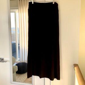 Full Length Black Maci Skirt